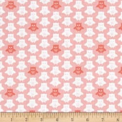 Contempo Owls And Pals Owls Rose Fabric