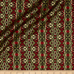 Florentine Christmas Metallic Holiday Filigree Red/Multi