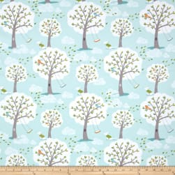 Michael Miller Windy Day Flannel Aqua Fabric