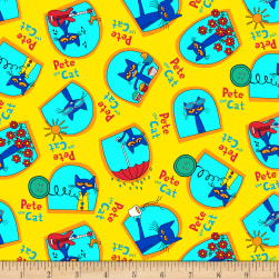 Pete The Cat Geo Yellow Fabric