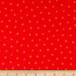 Pete The Cat Flannel Stars Red Fabric