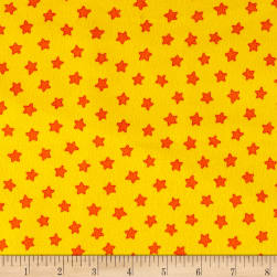 Pete The Cat Flannel Stars Yellow Fabric