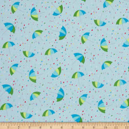 Chasing Waves Summer Showers Turquoise Fabric