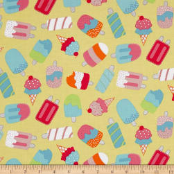 Chasing Waves Ice Cream Yellow Fabric