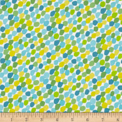 Chasing Waves Candy Spots Turquoise Fabric