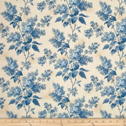 Blue Sky Lilacs Beach House Fabric