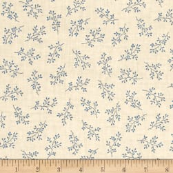Blue Sky Windswept Mountain Top Fabric