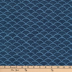 Kaufman Kasuri Tiles Indigo Fabric