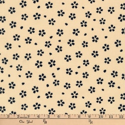 Kaufman Kasuri Floral Denim Fabric