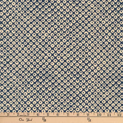 Kaufman Kasuri Grid Navy Fabric