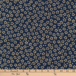 Kaufman Kasuri Spray Navy Fabric