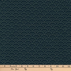 Kaufman Kasuri Geo Tile Navy Fabric