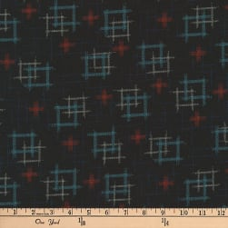 Kaufman Kasuri Hash Plaid Midnight Fabric