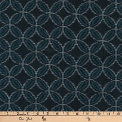 Kaufman Kasuri Geo Circles Midnight Fabric