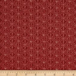 Kaufman Kasuri Trellis Red Fabric