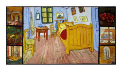 Kaufman Vincent Van Gogh Digital 24'' Panel Multi Fabric