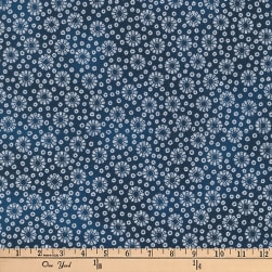 Kaufman Imperial Collection Metallic Geo Navy Fabric