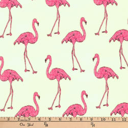 Kaufman Beach Divas Flamingos Flamingo Fabric