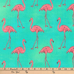 Kaufman Beach Divas Flamingos Cabana Fabric