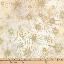 Kaufman Batiks Metallic Northwood Leaf Spray Winter