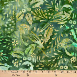 Kaufman Batiks Metallic Northwood Birds Forest Fabric