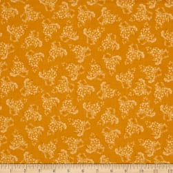 Vintage Tonal Grapes Gold Fabric