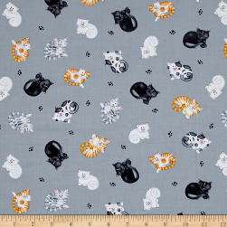 The Cat's Meow Mini Tossed Cats Gray