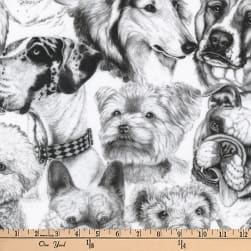 Kaufman Whiskers and Tails Digital Prints Dog Collage