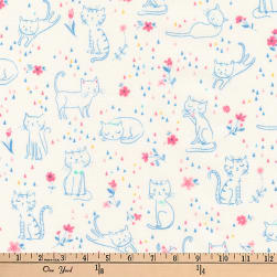 Kaufman Whiskers and Tails Kittie Fun Pastel Fabric