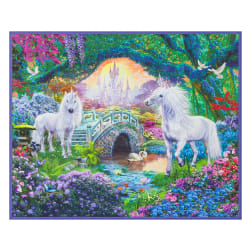 "Kaufman Digital 35"" Panel Unicorn Scenic Sweet"