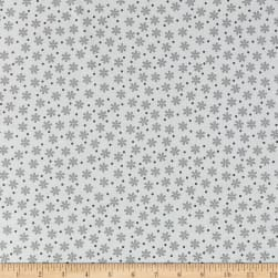 Kaufman Cozy Cotton Flannel Daisies White