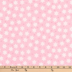 Kaufman Cozy Cotton Flannel Daisies Rose Fabric