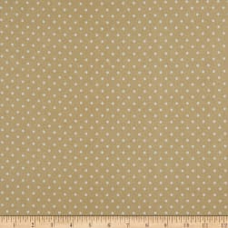 Kaufman Cozy Cotton Flannel Dots Tan Fabric