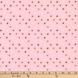 Kaufman Cozy Cotton Flannel Dots Blush