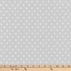 Kaufman Cozy Cotton Flannel Dots Silver