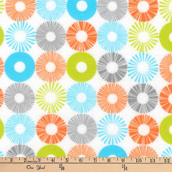 Kaufman Cozy Cotton Flannel Geo Circle Bermuda Fabric
