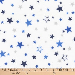Kaufman Cozy Cotton Flannel Stars Royal Fabric