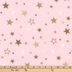 Kaufman Cozy Cotton Flannel Stars Blush