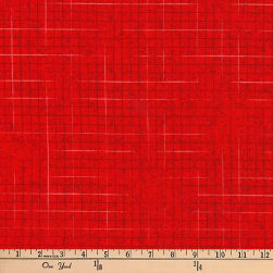 Kaufman Maze Red Fabric