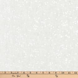 Kaufman Arroyo Linen/Cotton Blend Scatter Dot Snow Fabric