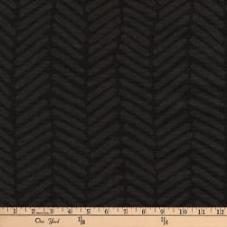 Kaufman Arroyo Linen/Cotton Blend  Herringbone Black