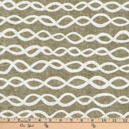 Kaufman Arroyo Yarn Dye Linen/Cotton Blend Links Olive
