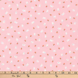 Kaufman Mini Prints Bunnies Pink Fabric