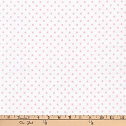 Kaufman Baby Basics Double Gauze Dot Pink Fabric