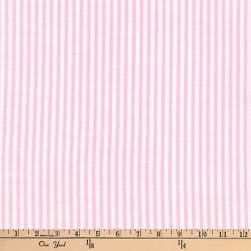 Kaufman Baby Basics Double Gauze Stripe Pink Fabric