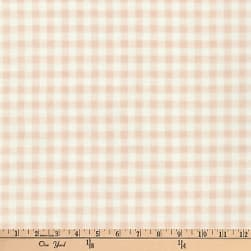 Kaufman Baby Basics Double Gauze Check Tan Fabric