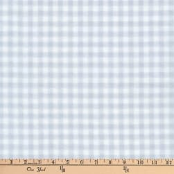 Kaufman Baby Basics Double Gauze Check Grey Fabric