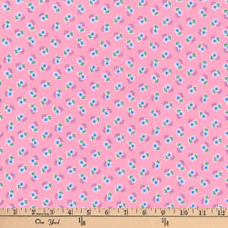 Kaufman Dolly Jean Tiny Flowers Pink Fabric