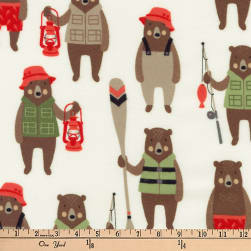 Kaufman Brawny Bears Flannel Sportsmen Wild Fabric