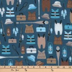 Kaufman Brawny Bears Flannel Gear Lake Fabric